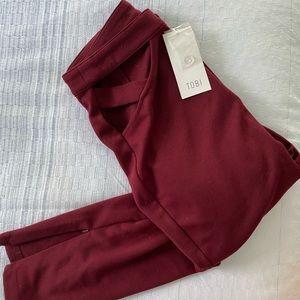 Maroon Tobi trousers